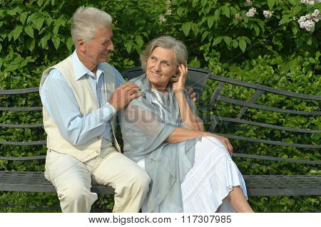 Mature couple in  spring day