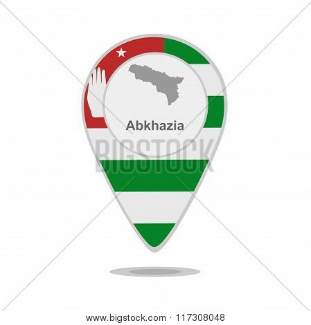 A pointer with map and flag of Abkhazia