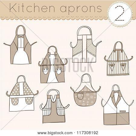 Set Of Kitchen Aprons 2