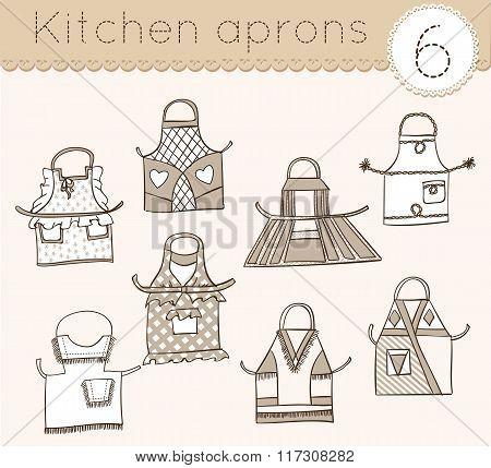Set Of Kitchen Aprons 6