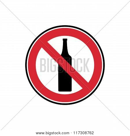 Vector Symbol No Drinking, Anonymouse Alcoholics Aa Red And Black Sign Isolated On White
