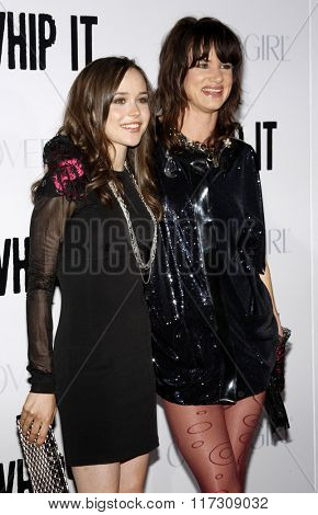 Ellen Page and Juliette Lewis at the Los Angeles Premiere of