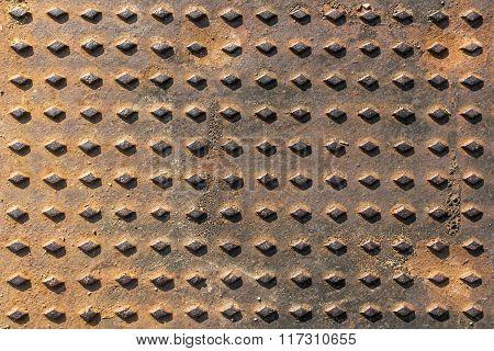 Close-up Background Manhole