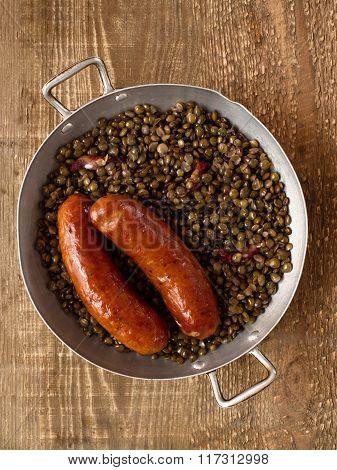 Rustic Sausage With Lentil