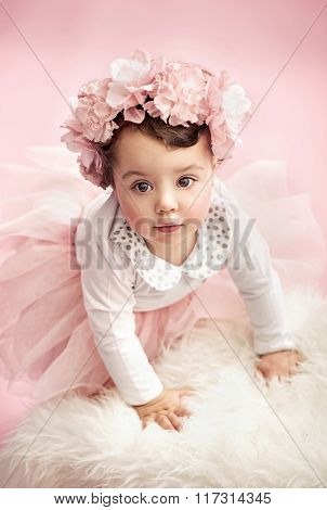 Beautiful happy little baby