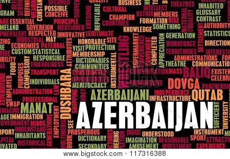 Azerbaijan as a Country Abstract Art Concept