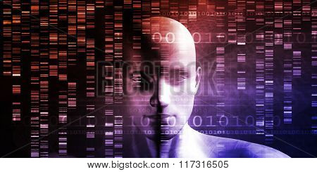 Scientific Research and Genetic DNA Science Concept