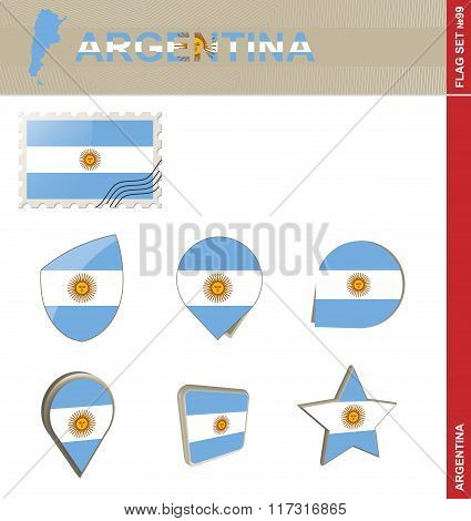 Argentina Flag Set, Flag Set #99