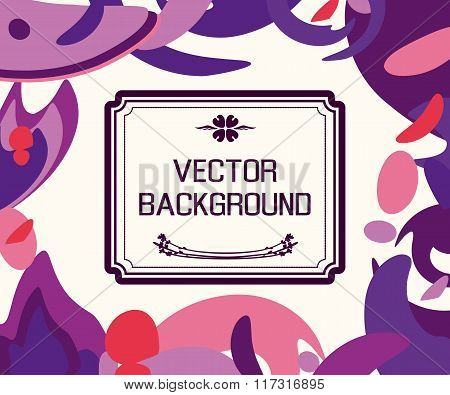 Abstract Background With Artistic Blots And Stains