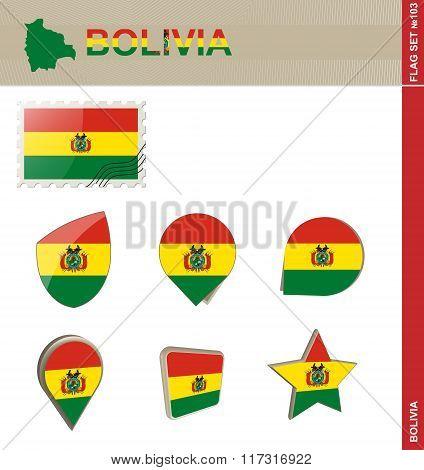 Bolivia Flag Set, Flag Set #103