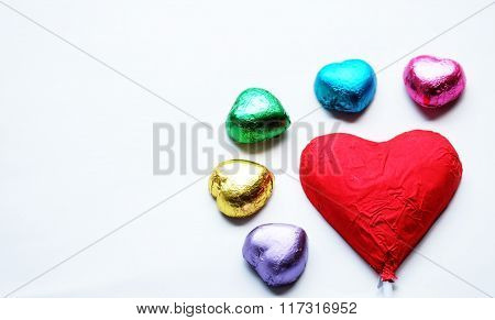 Love Heart Chocolate Valentine in sweet color