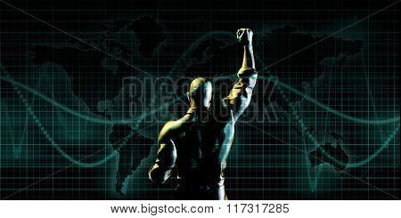 Achieve Success as a Symbolic Concept Background art