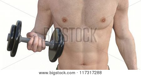 Man Muscle Training for a Fit Body and Physique Illustration
