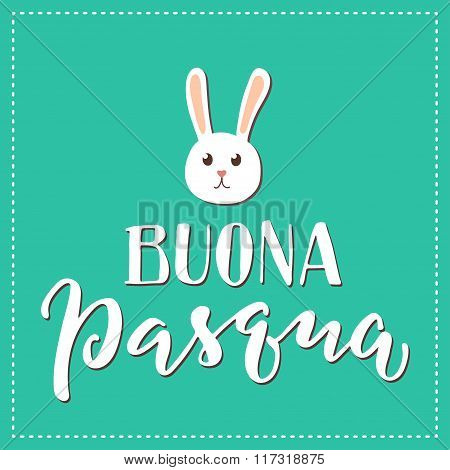 Italian Happy Easter Print.
