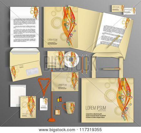 Corporate Identity set with abstract background.