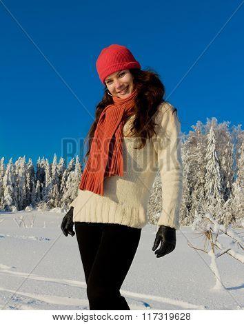 Frozen Happy Girl