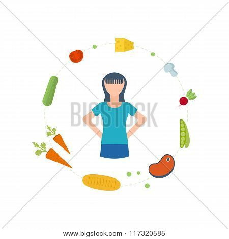 Healthy lifestyle, eating, fitness and physical activity concept.