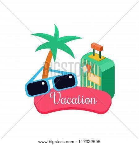 Exotic Vacation. Vector Illustration