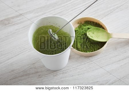 Matcha Latte Preparation Step Five