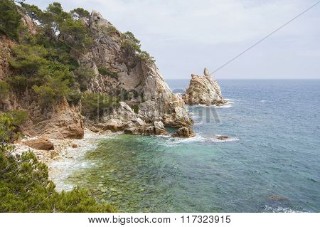 Mediterranean Coast In Catalonia (spain)..