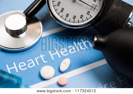 Heart related documents, medical tools and drugs