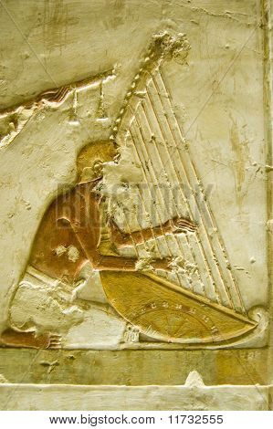 Ancient Egyptian harpist