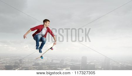 Guy on skateboard
