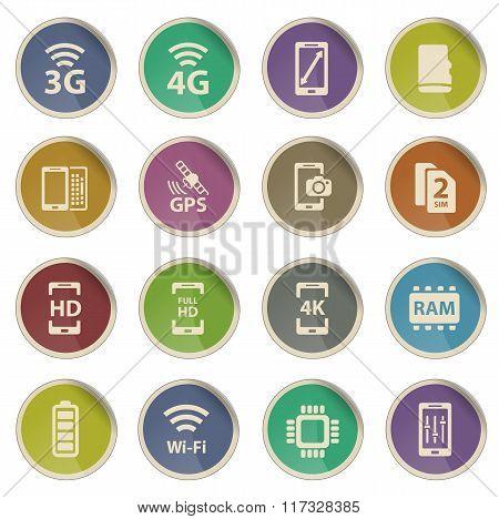 Smarthone specs simply icons