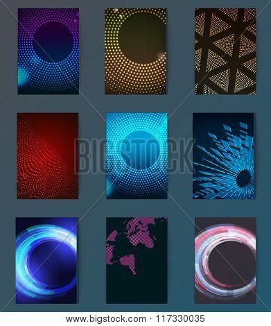 Huge mega pack Brochure design template set