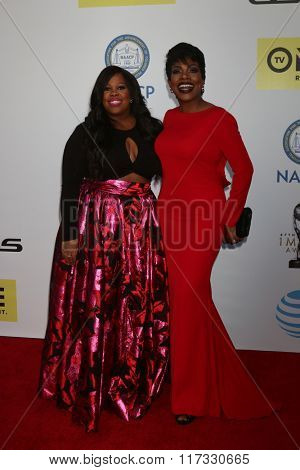 LOS ANGELES - FEB 5:  Amber RIley, Sheryl Lee Ralph at the 47TH NAACP Image Awards Arrivals at the Pasadena Civic Auditorium on February 5, 2016 in Pasadena, CA