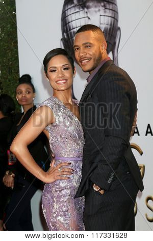 LOS ANGELES - FEB 5:  Grace Gealey, Trai Byers at the 47TH NAACP Image Awards Arrivals at the Pasadena Civic Auditorium on February 5, 2016 in Pasadena, CA