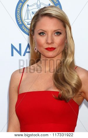 LOS ANGELES - FEB 5:  Kaitlin Doubleday at the 47TH NAACP Image Awards Arrivals at the Pasadena Civic Auditorium on February 5, 2016 in Pasadena, CA