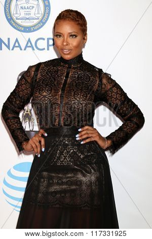 LOS ANGELES - FEB 5:  Eva Marcille at the 47TH NAACP Image Awards Arrivals at the Pasadena Civic Auditorium on February 5, 2016 in Pasadena, CA