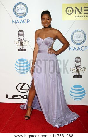 LOS ANGELES - FEB 5:  Keke Palmer at the 47TH NAACP Image Awards Arrivals at the Pasadena Civic Auditorium on February 5, 2016 in Pasadena, CA