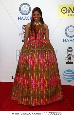 LOS ANGELES - FEB 5:  Nzingha Stewart at the 47TH NAACP Image Awards Arrivals at the Pasadena Civic Auditorium on February 5, 2016 in Pasadena, CA