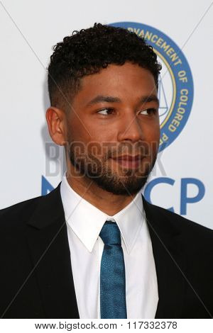 LOS ANGELES - FEB 5:  Jussie Smollett at the 47TH NAACP Image Awards Arrivals at the Pasadena Civic Auditorium on February 5, 2016 in Pasadena, CA