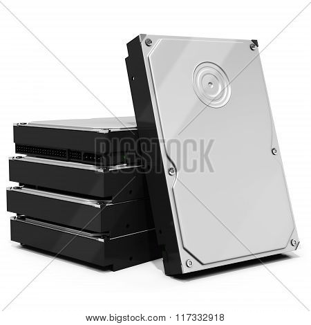 3D Hdd  Hard Drive Disk Stack