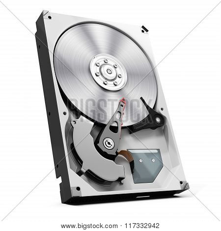 3D Detailed Open Hard Drive Disk