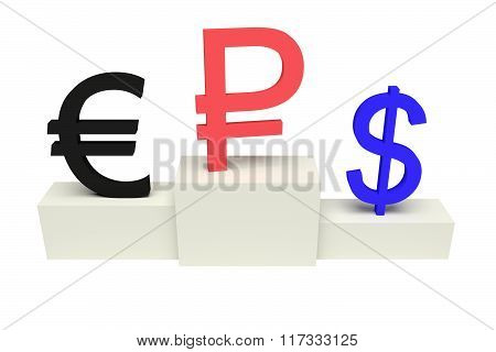 top currencies, strong Ruble, isolated