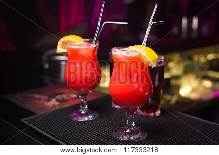 Two Red Coctails