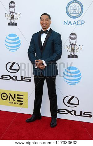 LOS ANGELES - FEB 5:  Neil Brown Jr at the 47TH NAACP Image Awards Arrivals at the Pasadena Civic Auditorium on February 5, 2016 in Pasadena, CA