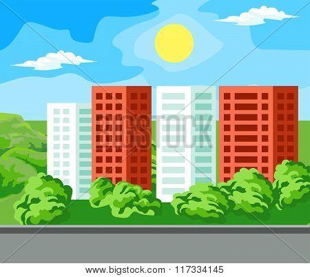 Multi-storey house landscape