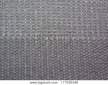 knitted black fabric