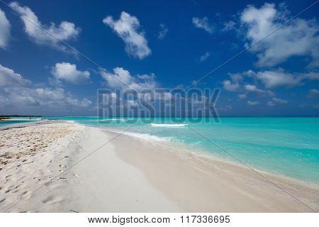 Beautiful white sand beach and Caribbean sea