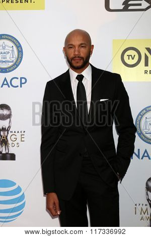 LOS ANGELES - FEB 5:  Stephen Bishop at the 47TH NAACP Image Awards Arrivals at the Pasadena Civic Auditorium on February 5, 2016 in Pasadena, CA