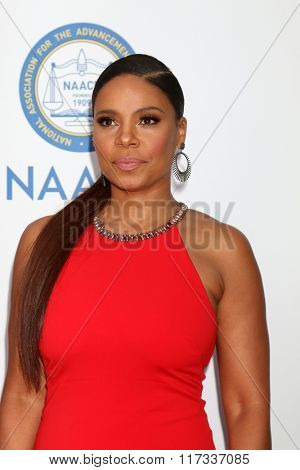 LOS ANGELES - FEB 5:  Sanaa Lathan at the 47TH NAACP Image Awards Arrivals at the Pasadena Civic Auditorium on February 5, 2016 in Pasadena, CA