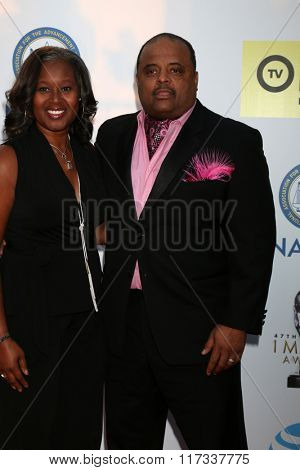 LOS ANGELES - FEB 5:  Roland Martin at the 47TH NAACP Image Awards Arrivals at the Pasadena Civic Auditorium on February 5, 2016 in Pasadena, CA