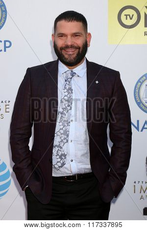 LOS ANGELES - FEB 5:  Guillermo D�¢??az at the 47TH NAACP Image Awards Arrivals at the Pasadena Civic Auditorium on February 5, 2016 in Pasadena, CA