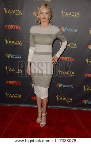 LOS ANGELES - JAN 29:  Samara Weaving at the 2016 AACTA International Awards at the PETA's Bob Barker Building on January 29, 2016 in Los Angeles, CA