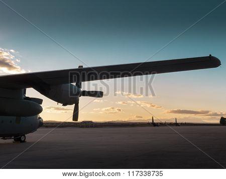 Hercules Aircraft ,military transport